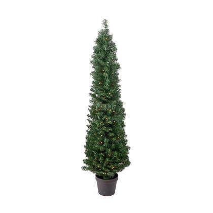 Spruce Cone Tree Pot 4' Permanent Christmas Tree (150 CL)