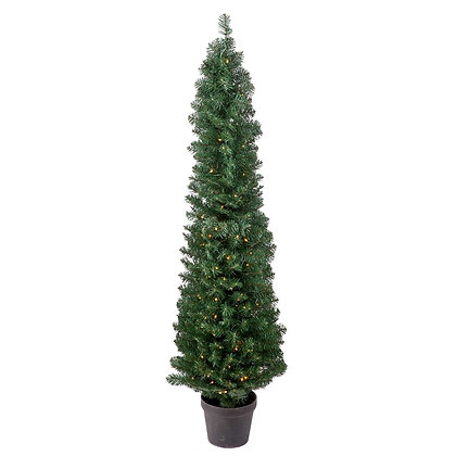 Spruce Cone Tree Pot 5' Permanent Christmas Tree (200 CL)