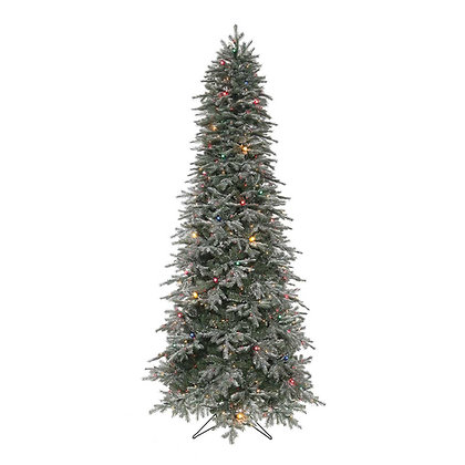 Frosted Stowe Slim 9' Permanent Christmas Tree (MULTI)