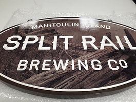 Split Rail Brewing - Carved Sign