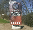 freestanding custom shaped alupanel sign billings connections trail