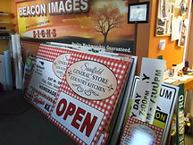 variety of coroplast signs by Beacon Images