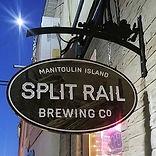 Split Rail Brewing - custom carved sign