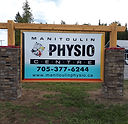 hanging alupanel sign manitoulin physio