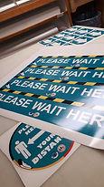covid floor stickers decals custom m'chi
