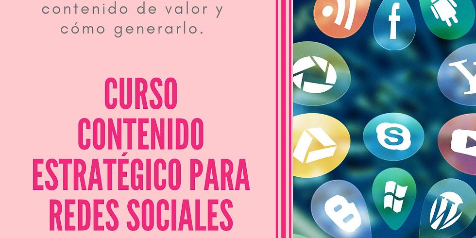 CURSO CREACIÓN DE CONTENIDOS ESTRATÉGICO PARA REDES SOCIALES