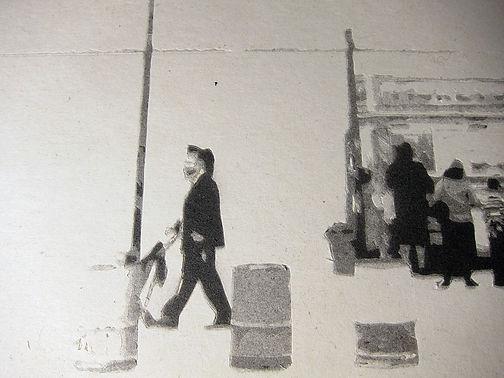 Emile Stoclin alias Emil. Artiste, peintre, plasticien. Pochoir, sérigraphie. Acrylique sur papier. 2014.