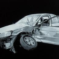 Crashed car. 2016.