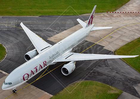 Qatar Airways - Boeing 777 - Print
