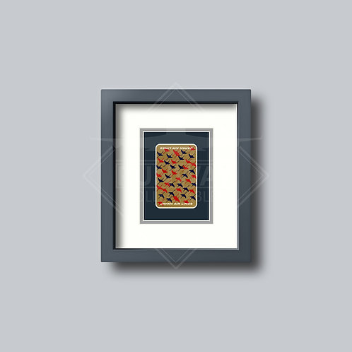 Japan Air Lines - Single Framed Playing Card