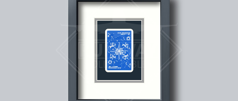 Air France - Single Framed Playing Card - Design No.1