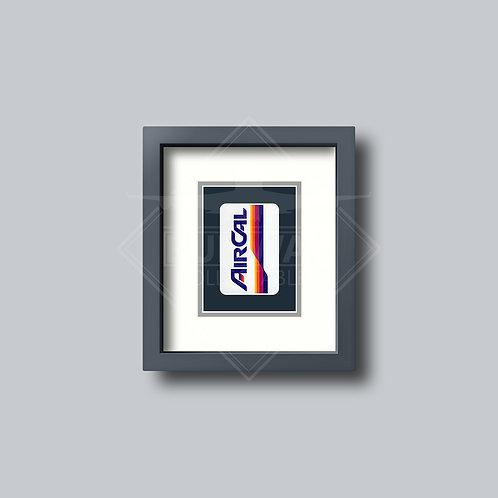 Air Cal - Single Framed Playing Card