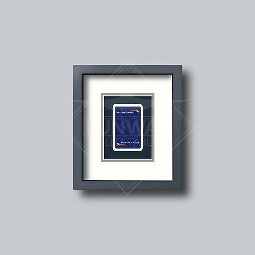 British Airways - Single Framed Playing Card