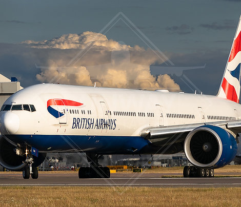 British Airways - Boeing 777 - Print
