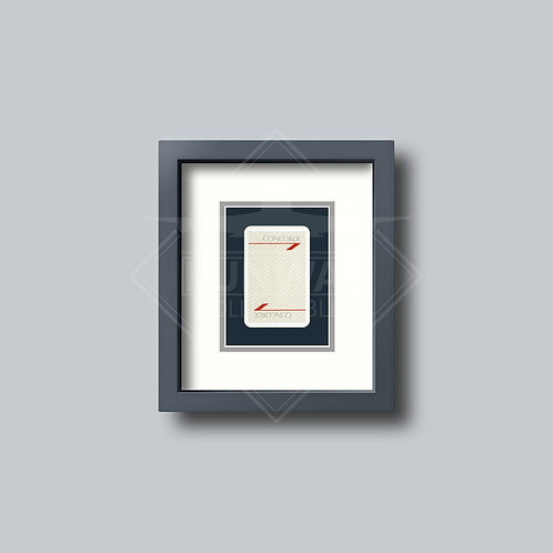 British Airways - Concorde - Single Framed Playing Card