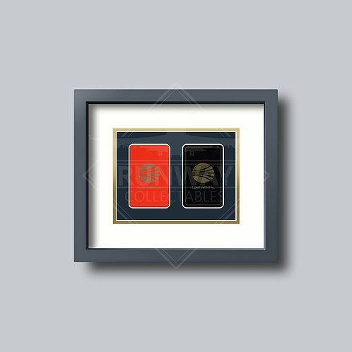 Continental Airlines - Gold Edition - Double Framed Playing Cards