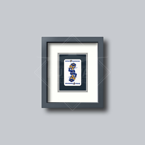 British Caledonian - Single Framed Playing Card - Design No.2