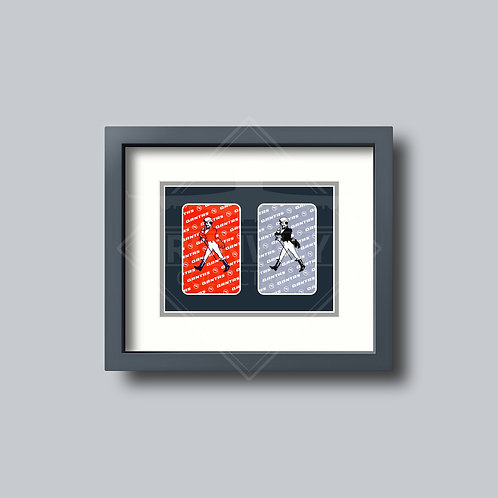 Qantas - Johnnie Walker - Double Framed Playing Card