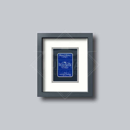 United Airlines  - Single Framed Playing Card - Design No.1