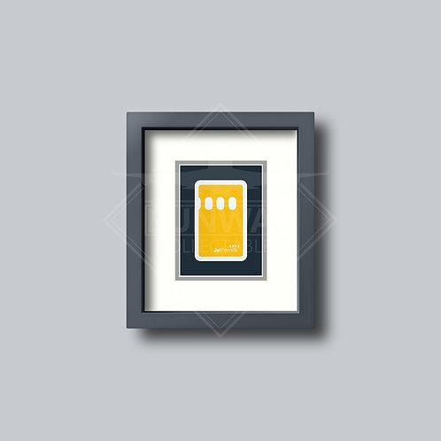 Lufthansa - Single Framed Playing Card - Design No.2