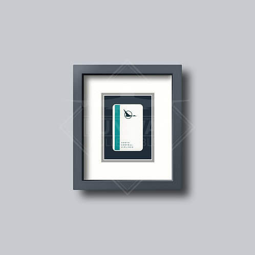 North Central Airlines - Single Framed Playing Card