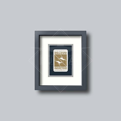 Qantas - Single Framed Playing Card - Design No.2