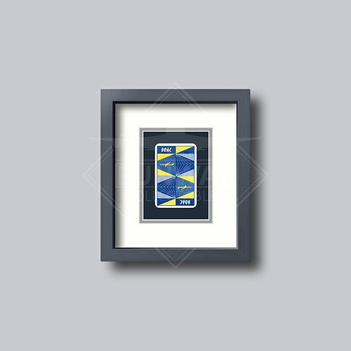 BOAC - Single Framed Playing Card - Design No.1