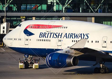 British Airways - Boeing 747 - Print