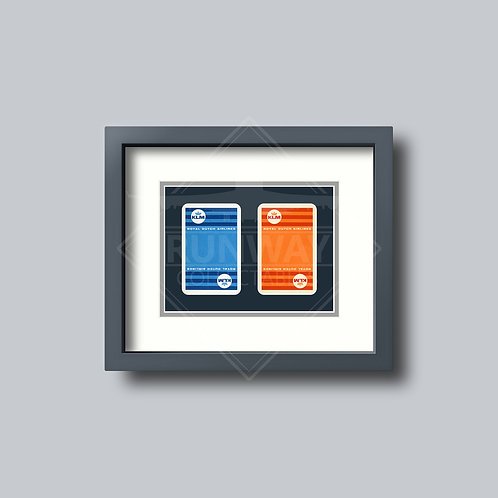 KLM Royal Dutch Airlines - Double Framed Playing Cards - Design No.1