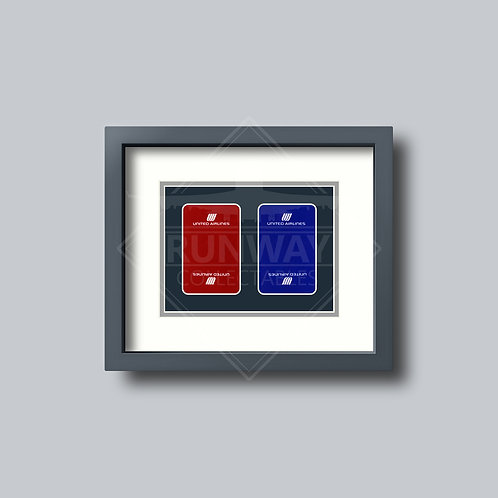United Airlines  - Double Framed Playing Cards