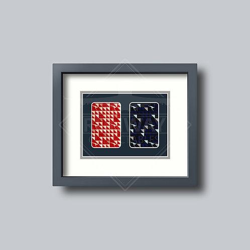 Qantas - Double Framed Playing Card - Design No.2