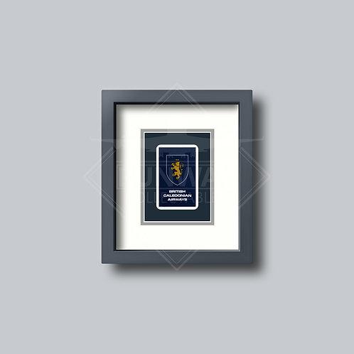 British Caledonian - Single Framed Playing Card - Design No.3