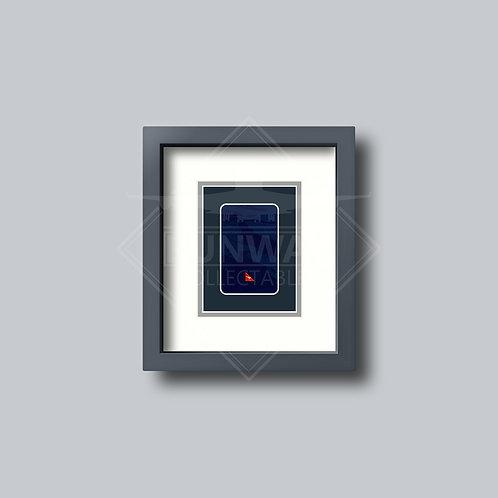 Qantas - Single Framed Playing Card - Design No.3
