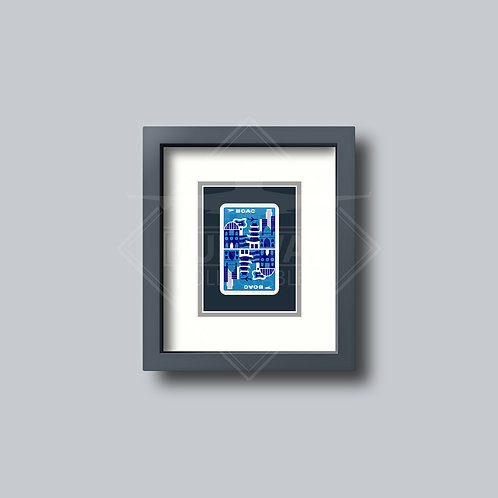 BOAC - Single Framed Playing Card - Design No.2