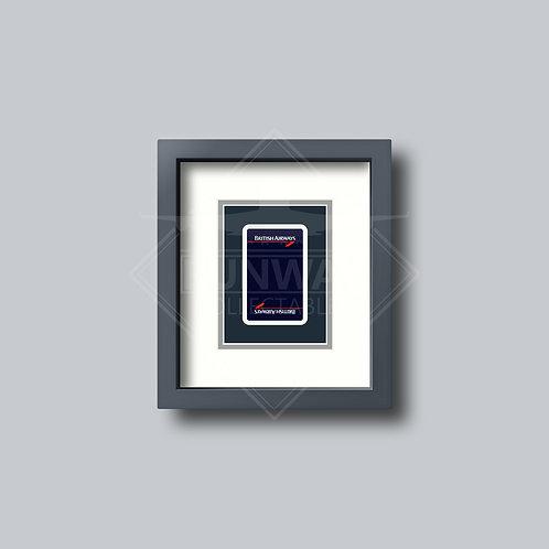 British Airways - Landor- Single Framed Playing Card