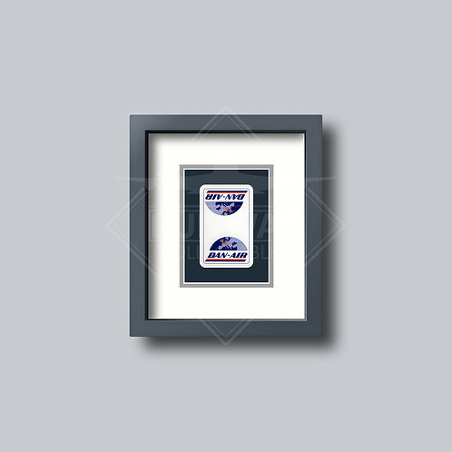 Dan Air Services - Single Framed Playing Card