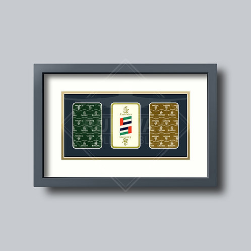 Emirates - Gold Edition - Triple Framed Playing Cards