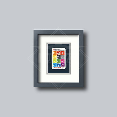 Qantas - 1982 Olympics - Single Framed Playing Card