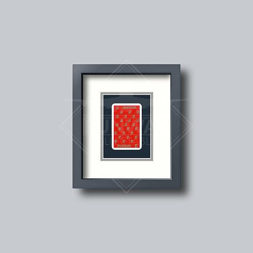Iberia - Single Framed Playing Card - Design No.2