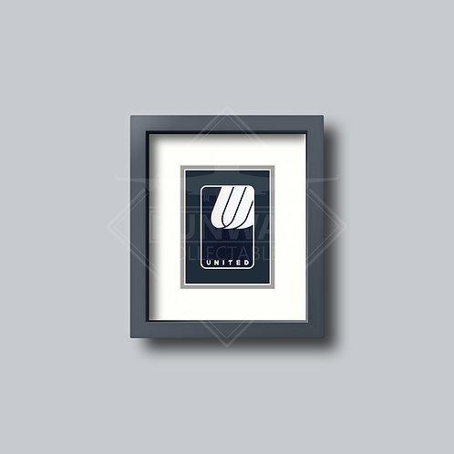 United Airlines  - Single Framed Playing Card - Design No.2