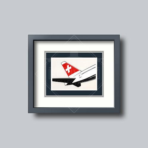 SWISS - 777 (Tail) - Framed Postcard