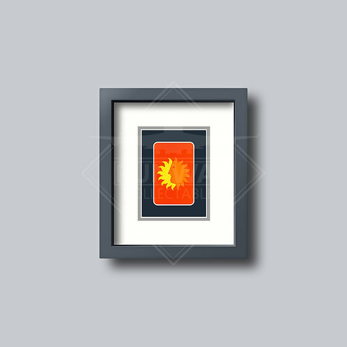National Airlines- Single Framed Playing Card