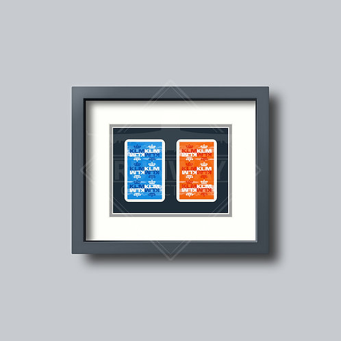 KLM Royal Dutch Airlines - Double Framed Playing Cards - Design No.2