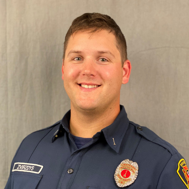 Lieutenant Jake Zvirzdys    Jacob Zvirzdys has been with the South Bay Fire Department for nine years. He started as a volunteer member and in 2014 he was hired as the first career firefighter with the department. In 2020, Jacob worked his way up into a leadership position as a Lieutenant in charge of deploying training for the night and weekend shifts. He and his family have resided in the district for 32 years.   When not on shift, he enjoys spending time outdoors boating on the sound, riding side-by-sides in the dunes and hiking in the mountains.
