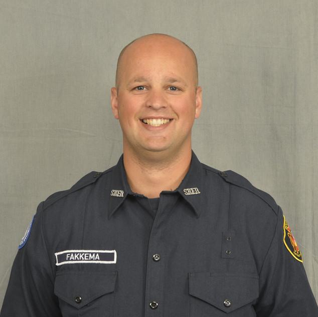 Firefighter Ryan Fakkema