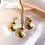 Thumbnail: Bent But Not Broken Gold Cabochon Earrings