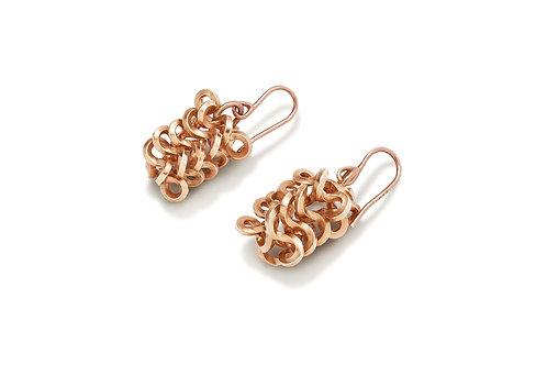Rectangular Foil Brunch Mini Earrings