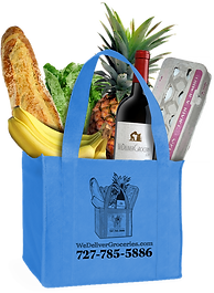 We Deliver Groceries reusable bag