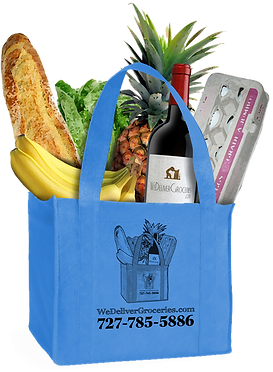 Grocery Delivery shopping bag. Keep it, Reuse it, Return it, or Donate it. Saving the Planet one Bag at a Time!