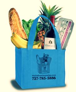 We Deliver Groceries bag